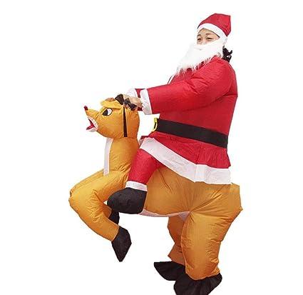 Amazon.com : JXJ Christmas Inflatable Suit Santa Elk Costume ...