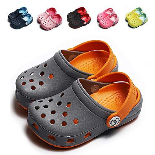 KaKaKiKi Toddler Kid Slipper Boy Girl Sandal Garden Shoe Cartoon Comfort Clogs Summer Slip On Backstrap Water Beach Pool Lightweight -