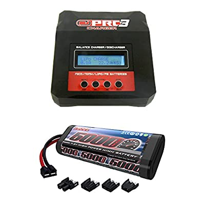 Venom 7.2V 5000mAh 6-Cell NiMH Battery with Universal Plug System and Venom Pro 3 Charger 7Amp RC LiPo and NiMH Battery Balance AC/DC Powered Combo