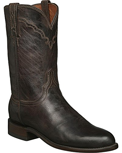 (Lucchese Men's 1883 Handmade Madras Goat Roper Boot Round Toe Chocolate 11.5 EE US)