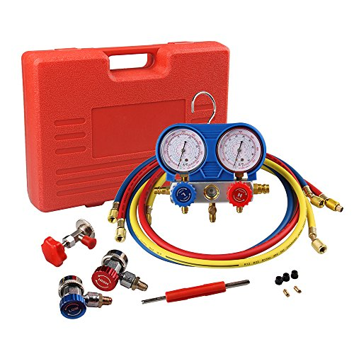 - Big-Autoparts Air Conditioner R410A R134A R22 Refrigerant Low&High Pressure Gauge and AC Manifold Gauge Set R134A (AC Manifold Gauge Set)