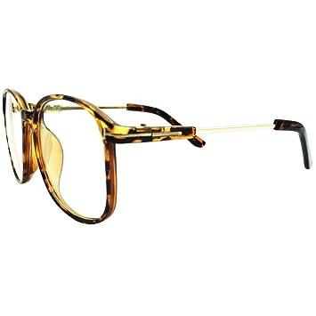 89270e12c81 Lasree Oversize Reading Glasses +2.50 Lenses Mens Womens Readers Tortoise  Frame Longsighted Spectacles