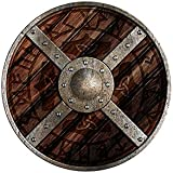 Escudo Redondo Odin Escudo de Madera Pintado, Madera, Escudo Protector 73804-3