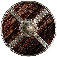 Unbekannt Escudo Redondo Odin Escudo de Madera Pintado