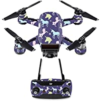 Skin for DJI Spark Mini Drone Combo - Unicorn Dream| MightySkins Protective, Durable, and Unique Vinyl Decal wrap cover | Easy To Apply, Remove, and Change Styles | Made in the USA