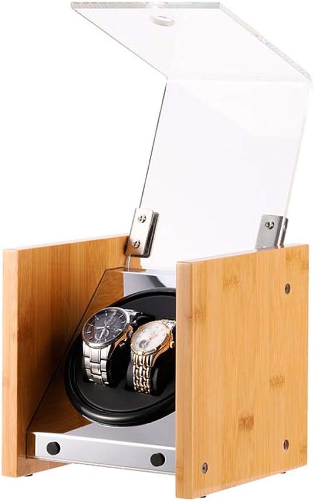 SXM Legno Orologio automatico Winder Box, Guarda di immagazzinaggio dell'esposizione di sicurezza, con silenzioso motore, for 2/4 da polso Orologi Impermeabili Winding Caso A