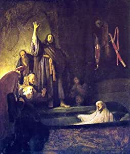 "Rembrandt Van Rijn The Raising of Lazarus - 20.1"" x 25.1"" Premium Canvas Print Gallery Wrapped"