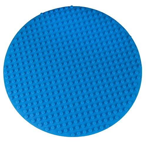 premium-16-silicone-circle-2-sided-baseplate-mat-blue-roll-up-baseplate-compatible-with-all-major-la