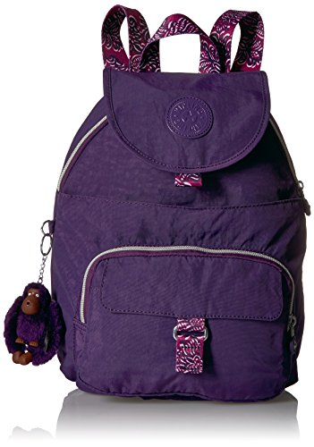 Kipling Queenie Solid Backpack with Printed Straps