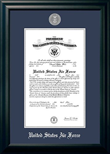 Campus Images ''Air Force Certificate Frame with Silver Medallion, 10'' x 14'', Black by Patriot