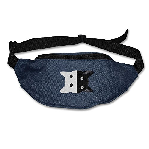 Ada Kitto Cat Ying Yang Mens&Womens Sport Style Waist Pack For Running And Cycling Black