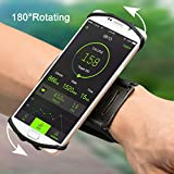 iPhone 7 Plus/ 6S/ 6/ 5S Sports Armband, VUP+ Workout Forearm Wristband Phone Holder 180°Rotatable for Running Cycling Gym Jogging, Suitable for Samsung S7 S6 edge/Galaxy S5 (For 4