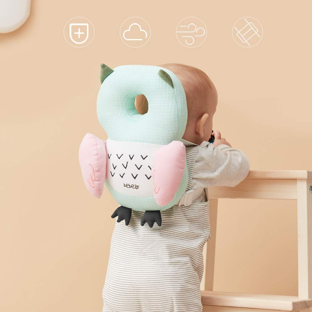 Cute Pig Pink Bebamour Baby Headrest Pillow Breathable Head Protector for Toddlers Safety Head Protection Pillow for Infant Walking Adjustable Protective Cushion for Babys Head