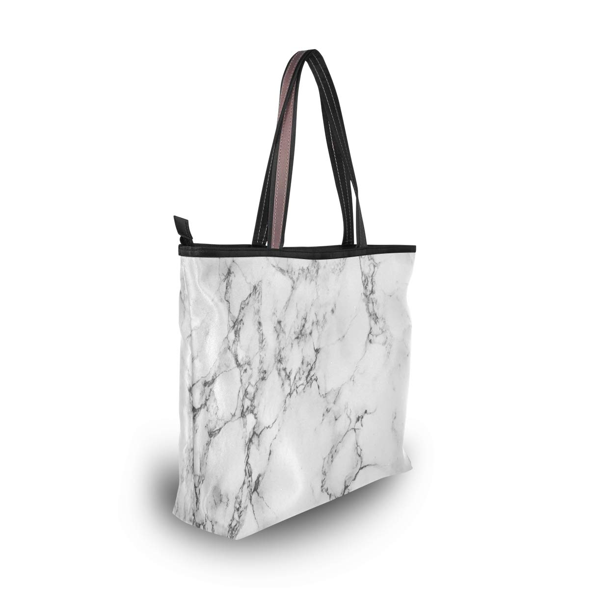 HousingMart Large Women Tote Bag US Flag Print Handbags Tote Handle with Zipper Shoulder Bag Grocery Shopping Work Bag