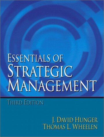 Essentials of Strategic Management (3rd Edition)