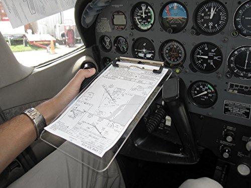 Aviation Yoke Mounted Clipboard, Translucent 1.5