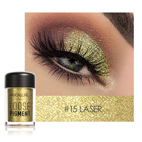 Poluck Women's Single Loose Power Eyeshadow 7 Colors Optional Metallic Cold Smoked Warmer Glitter Shimmer Sparkling Party Eye Shadow Cosmetic Makeup (Optional Metallic Finishes)