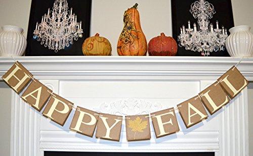 (Happy Fall Banner, Happy Fall Sign, Fall Decor, Happy Fall Garland, Fall Sign, Welcome Fall Banner, Thanksgiving Decoration, fall decor)