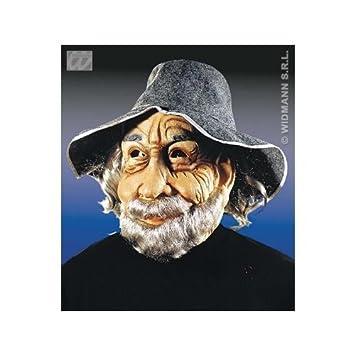 Máscara de abuelo con gris Sombrero de fieltro