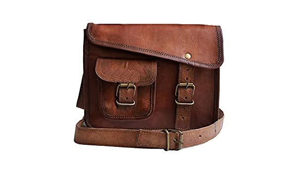 39cabb4587 Jaald- Stylish Men s Genuine distressed Leather Brown Shoulder Messenger  Passport Bag Murse Sling Bag Leather Bag Cross Body Bag Man Purse notebook  bag ...