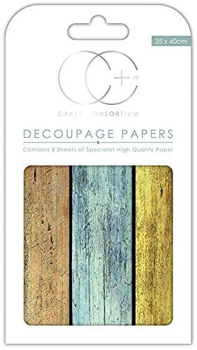 Craft consorcio papel para Decoupage, diseño de Premium - Caseta de playa: Amazon.es: Hogar
