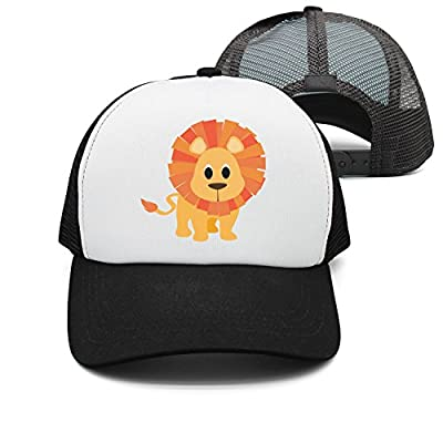 HJianyin Jungle Animals Cartoon Yellow Lion Man Unisex Fashion mesh Cap Baseball Cap Snapback Hats