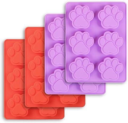 en silicone r/ésine /époxy avec 10 anneaux porte-cl/és pour bricolage QINREN Lot de 4 moules en silicone en forme dos de chien et de forme ronde