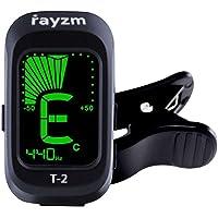 Rayzm Accordeur Électrique à Pince Portable avec Modes D'accord Chromatiques pour Guitare / Basse / Ukulélé / Violon, Ajustable sur 430-450HZ, Batterie Incluse, Précis et Réactif.