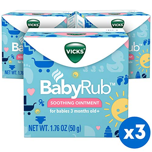 Vicks BabyRub Ointment with Soothing Aloe, Eucalyptus, Lavender, and Rosemary