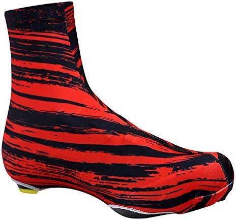 防水自転車オーバーシューズ バイクシューズレディースメンズブラックアンチスリップ再利用可能なウォッシャブル防水レインブーツの靴カバーをカバー 屋外スポーツに適しています (Size : L 41-43)