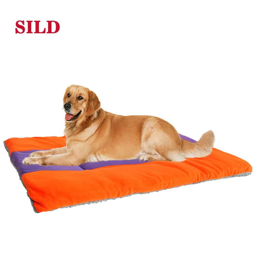 SILD Cuscino per Cani Cuscino per Cani per Cani Cuscino Reversibile per Cani Grandi e Piccoli Letto Matrimoniale per Cani Cuscino per materassi Imbottiti Morbidi per Animali Domestici (M)