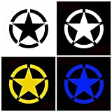 Motorcycle Decals - Army Decal Ford Decals Trucks Truck Stickers Jeep Star - Five-Pointed Star Stickers Motorcycle Car Tank Cup Body Decals Waterproof - Jeep Wrr Stickers And Decals - 1PCs