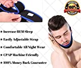 Sleep Quiet New Anti Snore Chin Strap | Best Stop Snoring Solution For Sleep Apnea | Deeper REM Sleep | CPAP Chin Strap | Adjustable Strap for Men and Women | Guaranteed To Stop Snoring Naturally