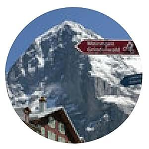 alfombrilla de ratón Zona de senderismo Alpinismo Bicicleta Eigernordwand Virgen - ronda - 20cm