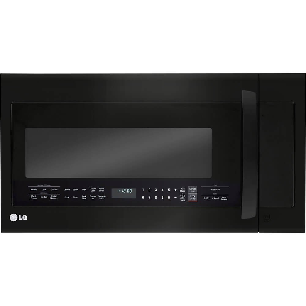 LG Electronics 2.0 cu. ft. Over the Range Microwave Oven in Matte Black Stainless Steel with Sensor Cooking Technology