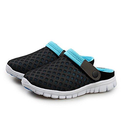 tendenza Black uomo da piatto Blue uomo EU Sandali tacco Jiuyue e aperta 39 Black spiaggia e con con Dimensione shoes Color Scarpe all'aria da Blue donna da da sandali yZHHYwBq