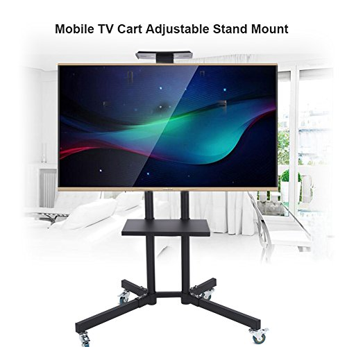 Wal front TV Mount,Mobile TV Cart Adjustable Stand Mount for 32-65 Inch LCD/LED Flat Panel Screen with Wheels (1203911) by Wal front (Image #6)