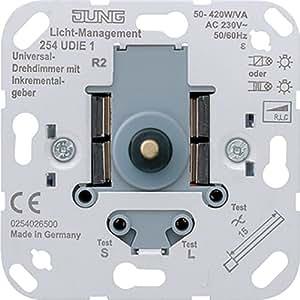 Jung 254 udie1 integrado regulador de intensidad met lico reguladores regulador de intensidad - Regulador de intensidad ...