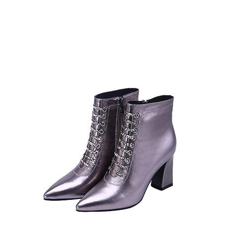 Shirloy Botas Cuero para Mujer Zapatos Cuero cómodos Botas Martin en Punta  Gruesas con Botas para la Nieve con Botas con Cremallera  Amazon.es  Zapatos  y ... 344296993b840