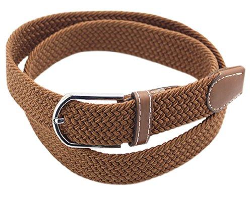 Wholesale Designer Belts (BONAMART ® Women Men Unisex Web Belt Stretch Elastic Braided Canvas Fabric with Metal Buckle)
