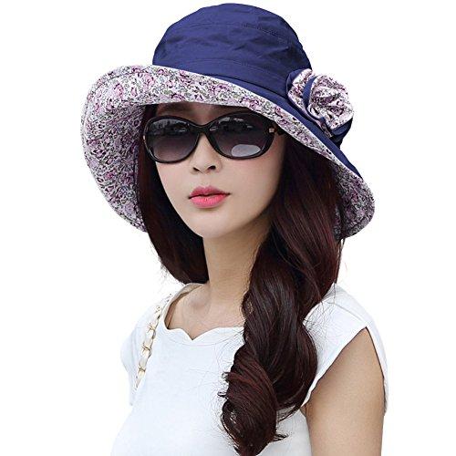 Womens Summer Sunhat Bucket Packable