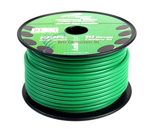 10 GA GAUGE 100 FT SPOOLS PRIMARY AUTO REMOTE POWER GROUND WIRE CABLE (3 ROLLS) by Audiopipe (Image #5)