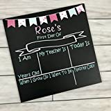 Personalized First day of School Chalkboard Sign- shabby chic banner