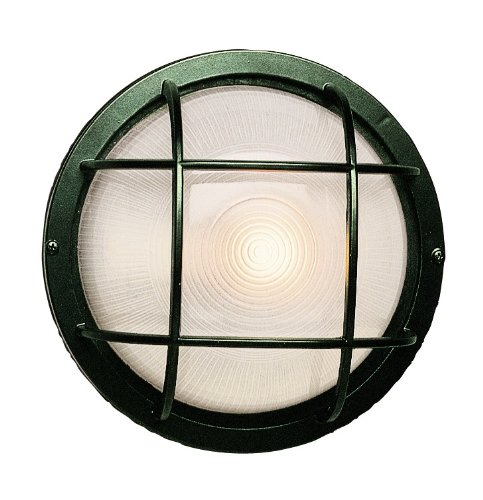 Trans Globe Lighting 41505 VG Outdoor Aria 8'' Bulkhead, Verde Green