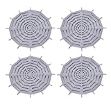 Kitchen Sink Strainer, 4PC TPR Material Sink Drains Strainers, Bathroom Hair Catcher, Fit for Almost All Kitchen Sinks(Grey)