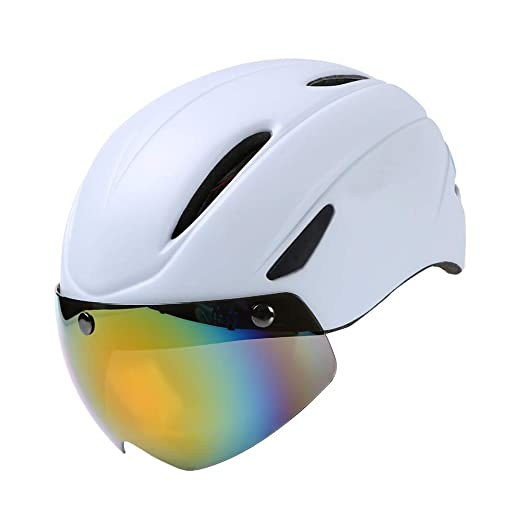 ZWYY Casco de Bicicleta de Carretera con Gafas Aero Casco ...
