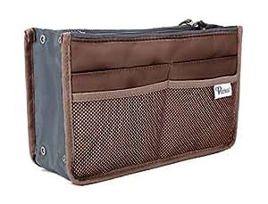 Periea Handbag Organiser - Chelsy - 28 Colours Available - Small, Medium Large (Small, Brown)