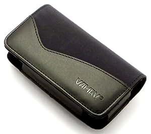 """""""Caballero"""" Negro, Lujoso estuche billetera de sintética cuero con cinturón con clip para HTC HD2 . Auténtica Funda / Carcasa / Cubierta para teléfonos móviles."""