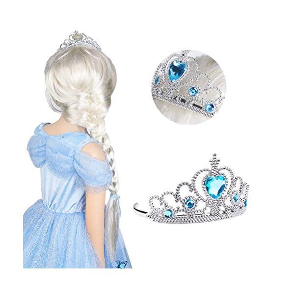 Vicloon-2Pcs-Accessori-per-Vestire-Principessa-con-DiademaBacchetta-Magica-Per-Ragazze-di-3-10-Anni