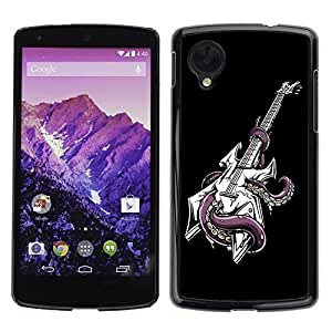 YOYO Slim PC / Aluminium Case Cover Armor Shell Portection //Cool Octopus Guitar //LG Google Nexus 5